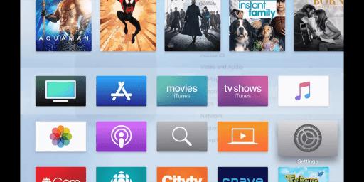Settings Apple TV