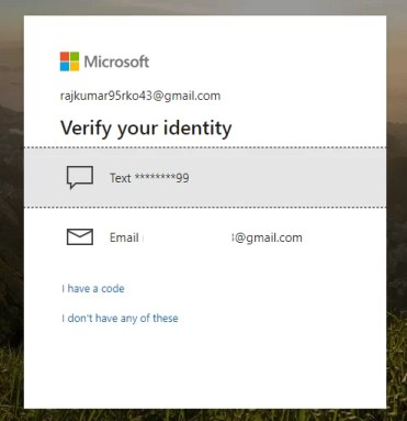 Verify identity