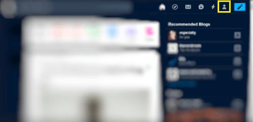 Click Profile icon