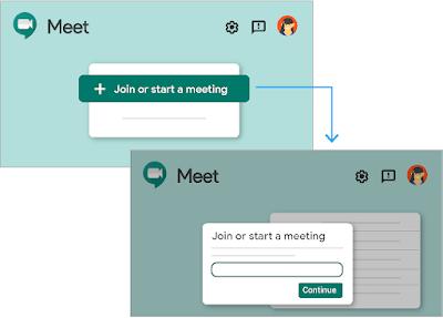 Sortu Hangouts Meet