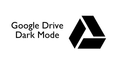 Dark mode on Google Drive