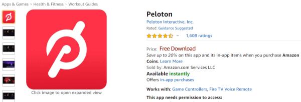 Download Peloton app