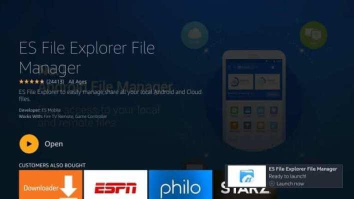 ES File Explorer on Firestick