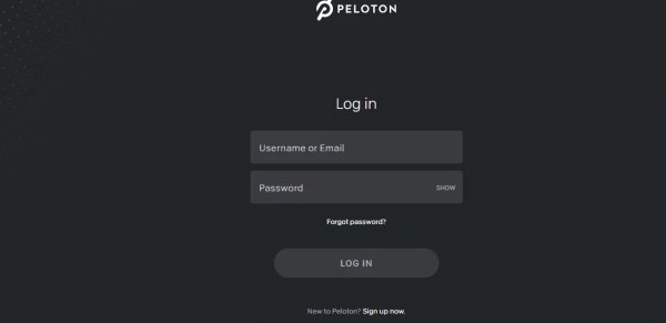 Login to Peloton Account