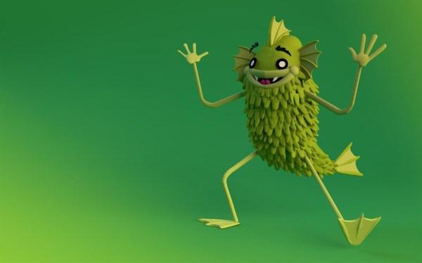 Paint 3D Creatures: Windows 10 Themes