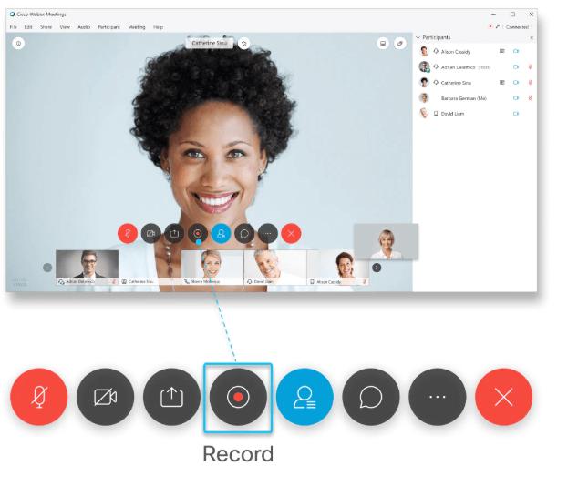 Record on Cisco Webex Meetings
