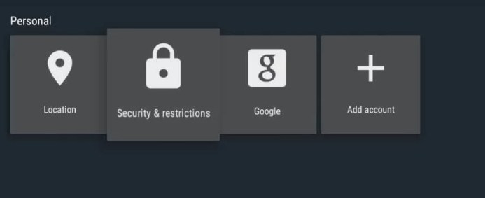 select Security & Restrictions