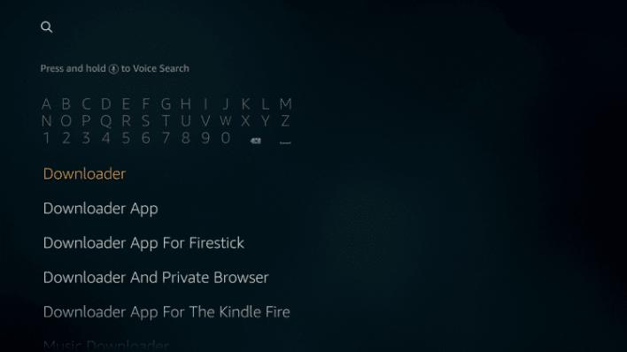 Downloader for Firestick