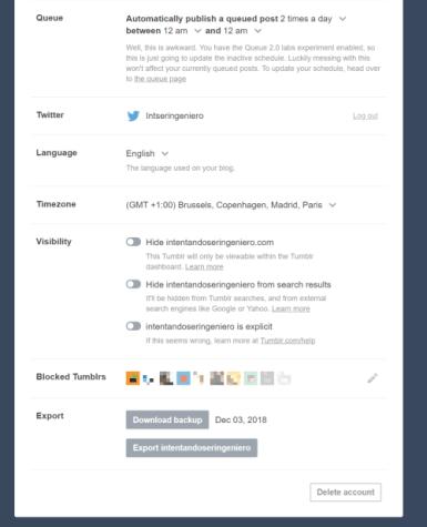 Backup Tumblr Blog