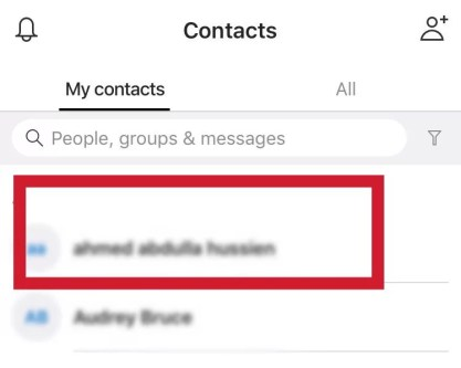 Select a person