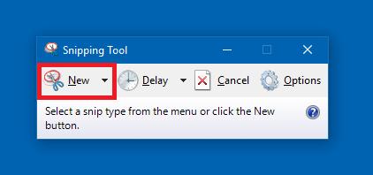 Take Screenshot using Snipping Tool