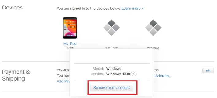 Remove Devices from iCloud