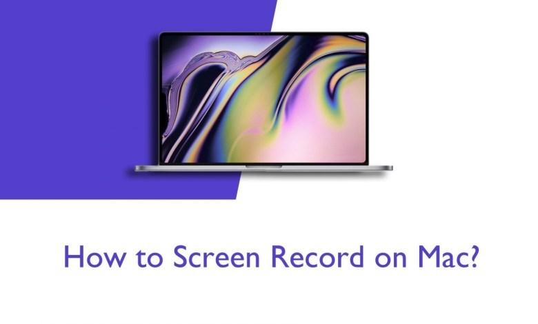 Screen record on Mac