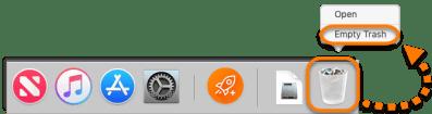 Select Empty Trash-How To Uninstall Avast on Mac