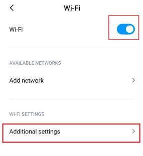 Select Additional settings