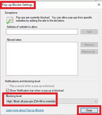 How to block ads on Internet Explorer-4