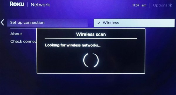 Roku Scans for WiFi