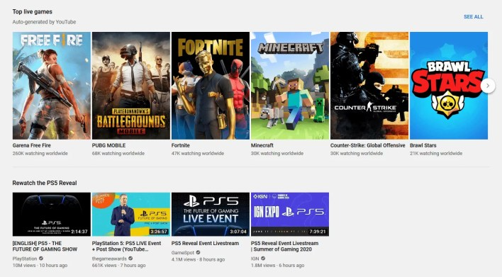 YouTube Gaming - Twitch Alternatives