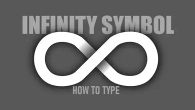 infinity symbol on keyboard
