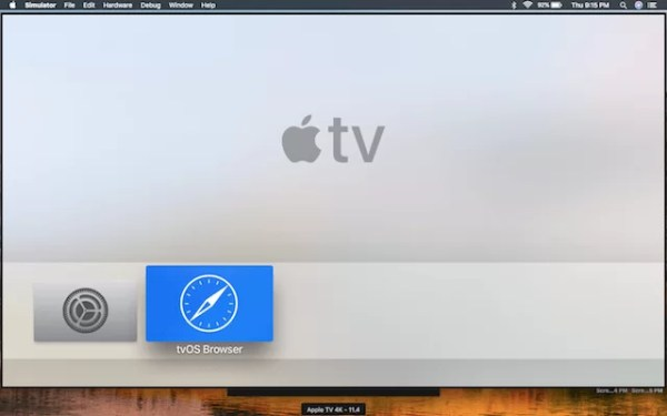 tvOS Browser on Apple TV