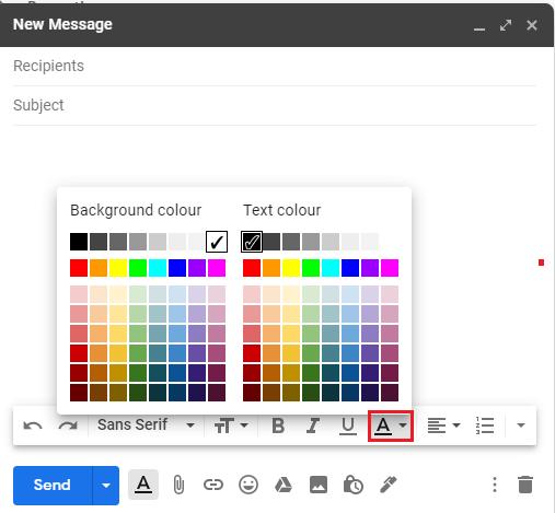 Change the colour