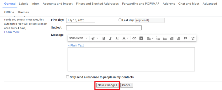 Change Gmail Language