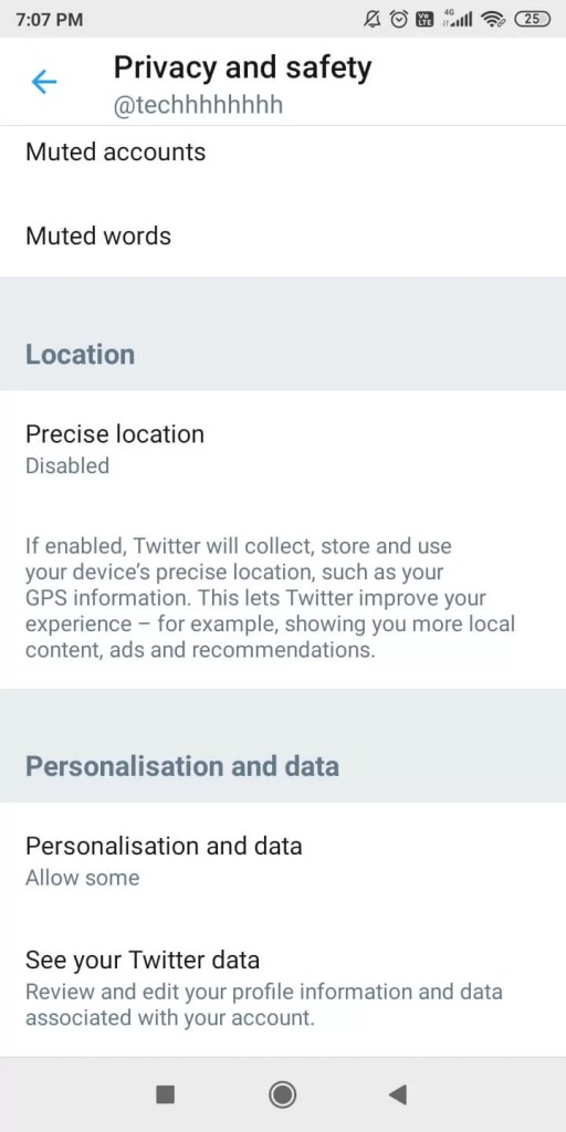 Change Privacy Settings on Twitter