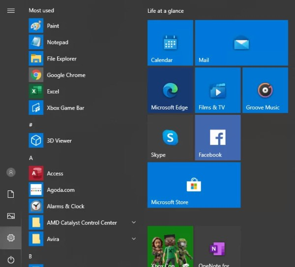 Choose Settings to Change Font on Windows 10