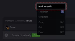 Click on Mark as Spoiler