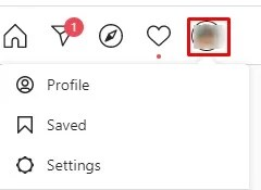 Click on profile