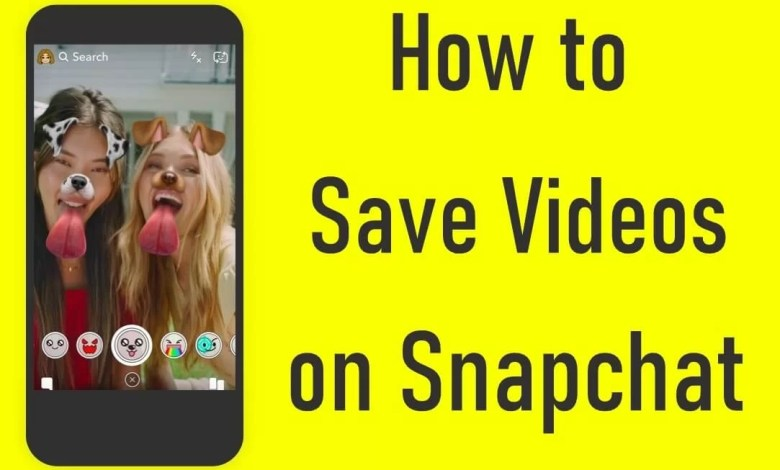 Save videos on Snapchat