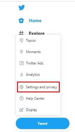 Settings & privacy - How To Change Twitter Language