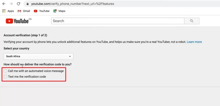 call or text - How To Verify Your YouTube Account