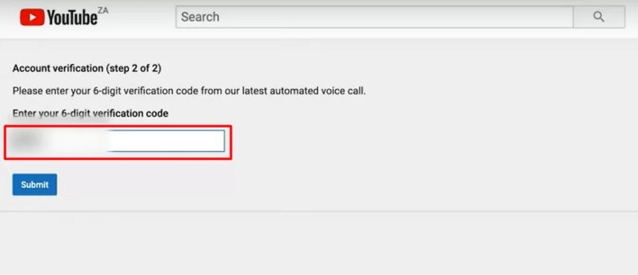 verification code - How To Verify Your YouTube Account