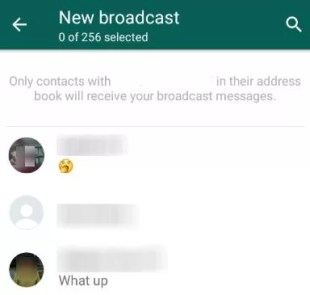 Select - How To Broadcast On WhatsApp