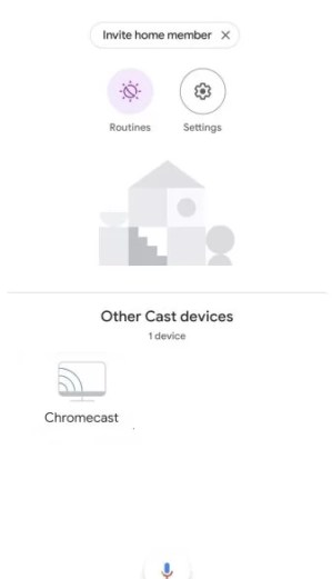 Select Chromecast Device