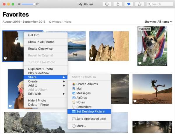 Select Set Desktop Picture to Change Wallpaper on Mac