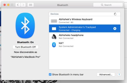 Turn on Bluetooth on MAC