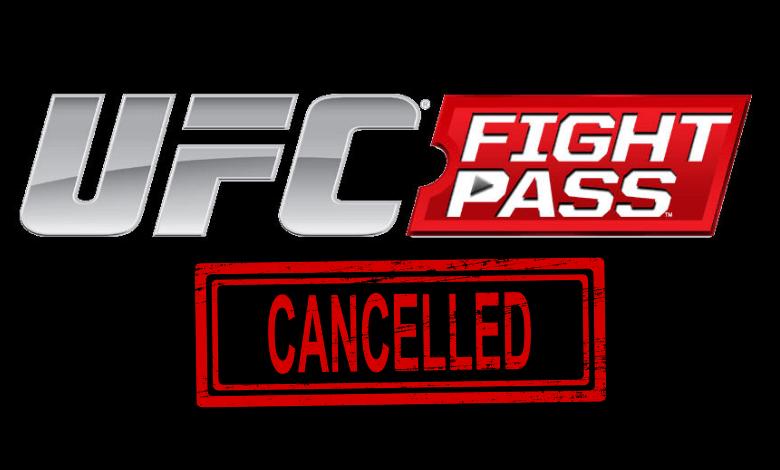 Cancel UFC Fight Pass