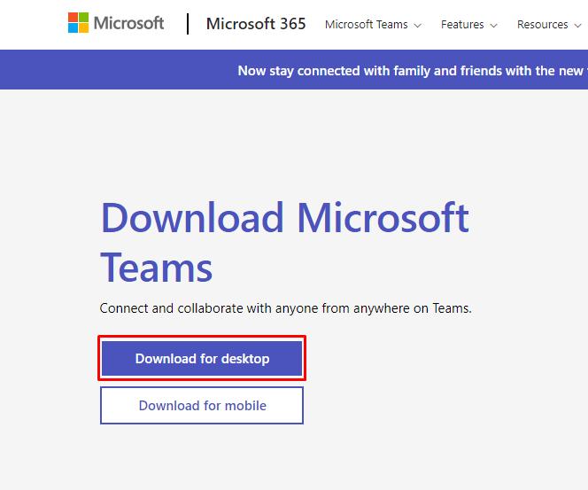 Download Microsoft teams desktop app