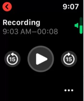 use voice memo on Apple smart watch