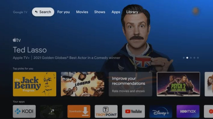 Select Search - Paramount Plus on Chromecast with Google TV