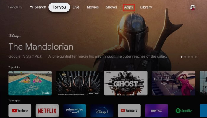Select Apps - Crunchyroll on Google TV