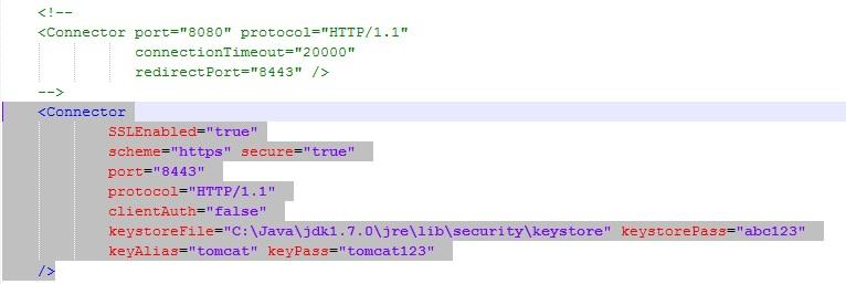 SSL Configuration Tomcat