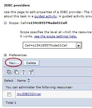 DERBY JDBC Providers