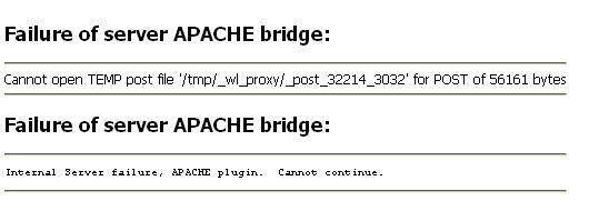 Apache Bridge Failure