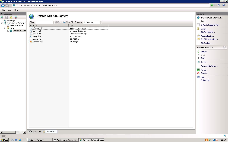 IIS 7 Default website