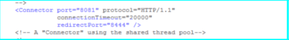 Tomcat Server.xml connector port