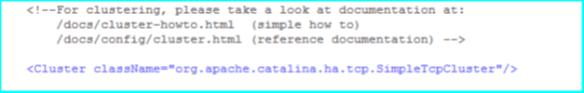 Tomcat cluster attribute server.xml
