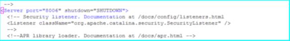 Tomcat Server.xml Shutdown Port